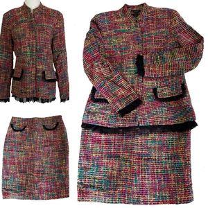 Nash Int'l Women's Tweed Jacket Skirt Suit Size 8